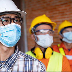 Social distancing workers